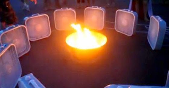 He Surrounded A Fire Pit With 12 Fans – What Happened Next Is Incredible