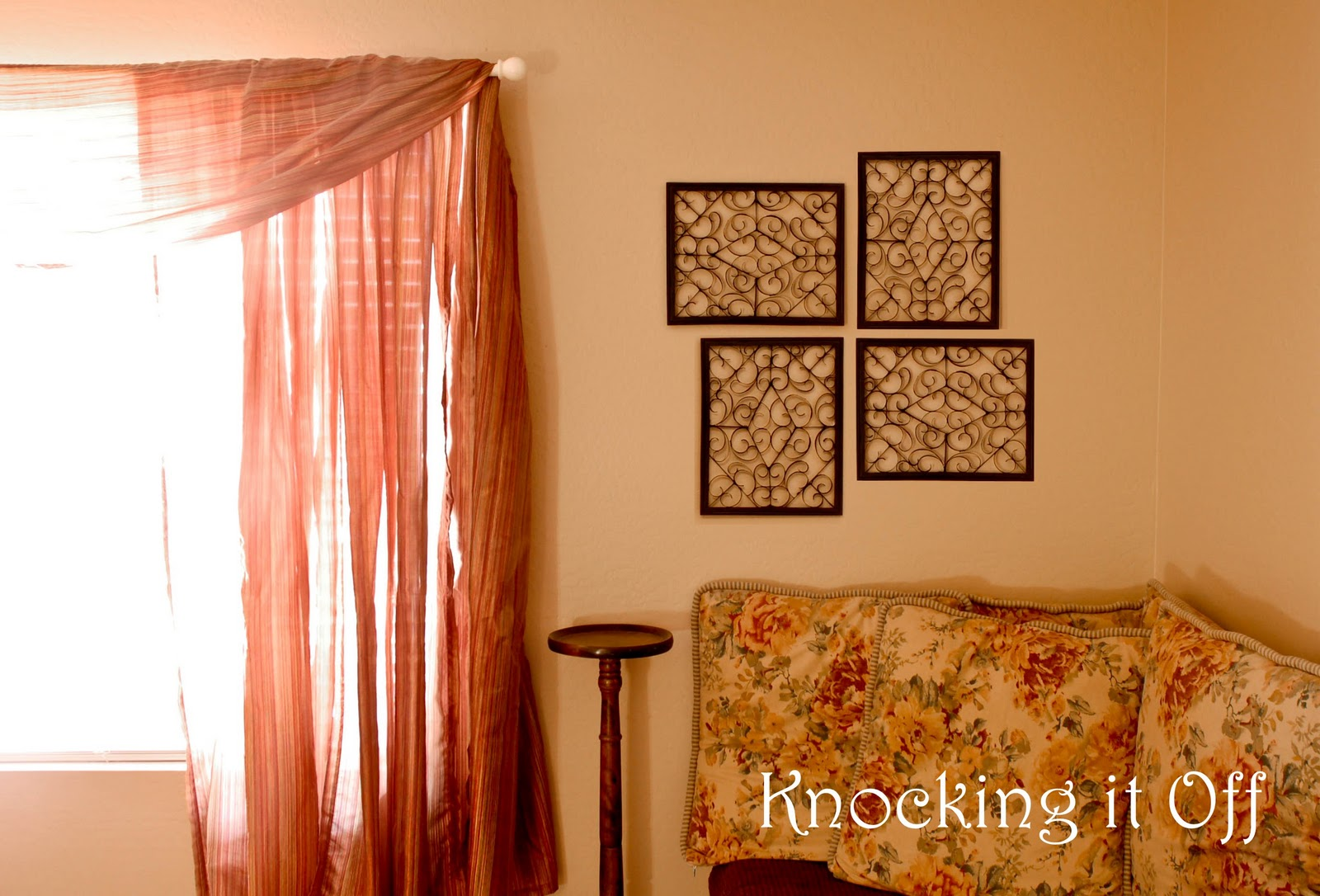 Knocking it off...: Tribute to: Cardboard! (Faux wrought iron wall ...