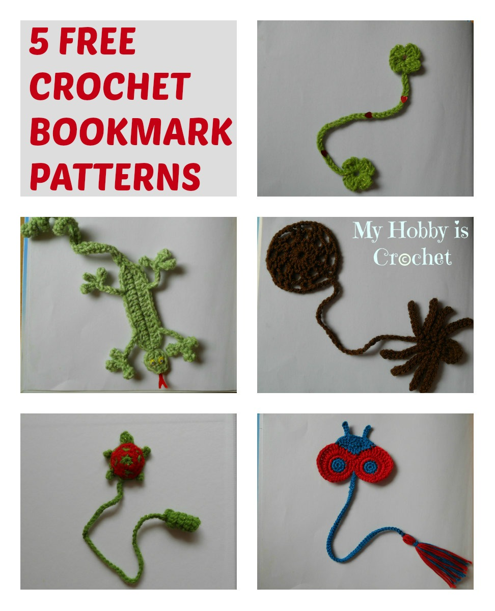 Free Crochet Bookmark Patterns : My Hobby Is Crochet: 5 Free Crochet Bookmark Patterns your kids will ...