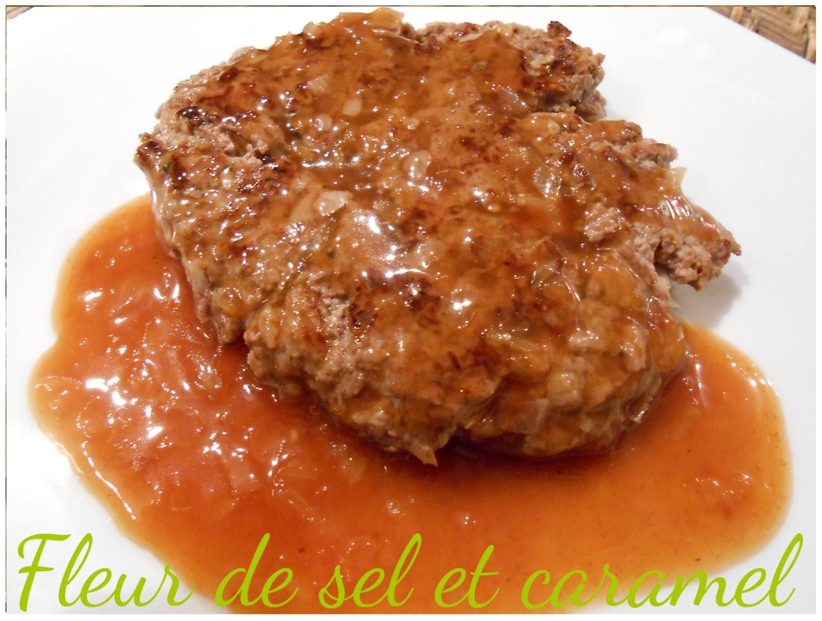 Fleur de sel et caramel steak hach l 39 chalotte et sauce normande - Culture de l echalote ...