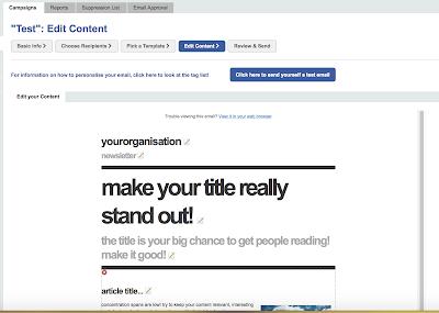 4. Schritt E-Mail-Kampagne anlegen: Vorlage bearbeiten