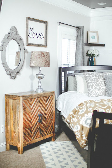 rustic master bedroom DIY