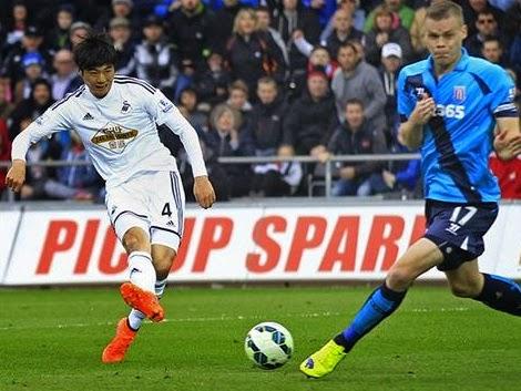 Results : Swansea 2-0 Stoke City