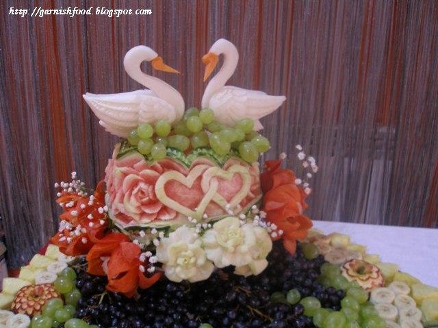 wedding fruit carving display vegetable decor
