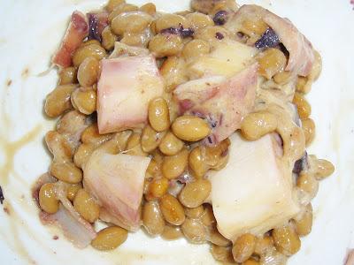 納豆にタコのベジタブルオイル漬け