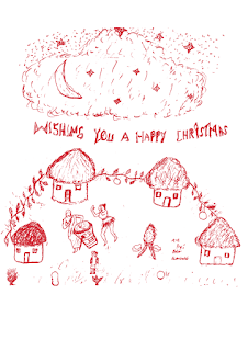 KES Christmas card - village