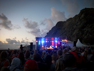 Watergate bay gig on the beach