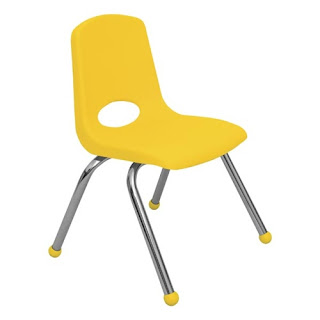 Yellow Classroom Chair from School Outlet