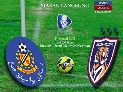 Pahang vs Johor Darul Takzim 3-2 Liga Super Malaysia 2013