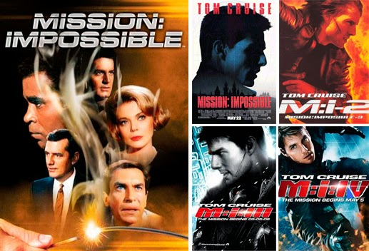 Tom Cruise en la saga de 'Misión imposible'