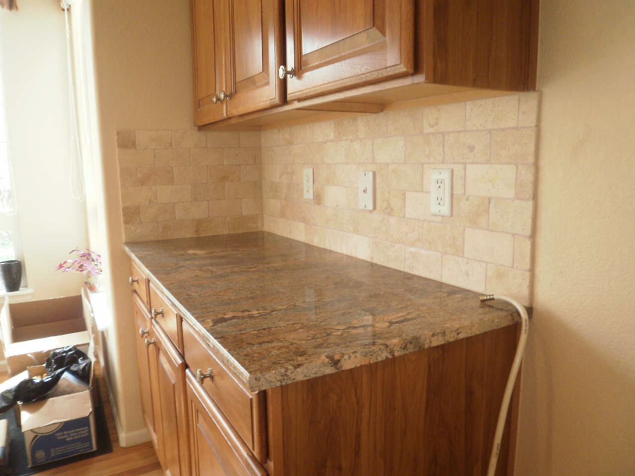 Integrity installations a division of front range backsplash 3x6 tumbled ivory - Backsplash designs travertine ...