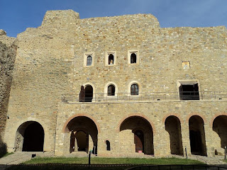 Neamt Fortress-the eastern wall of   inner courtyard