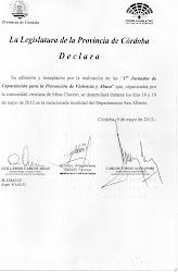 Adhesión Legislatura de la Provincia de Córdoba