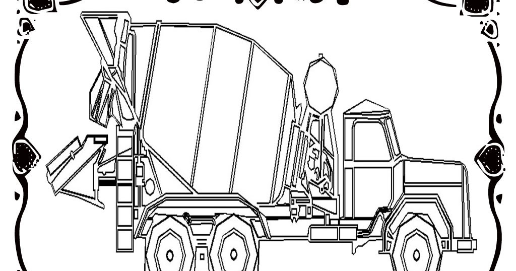 Printable Construction Vehicles Art Sheets Sketch Coloring