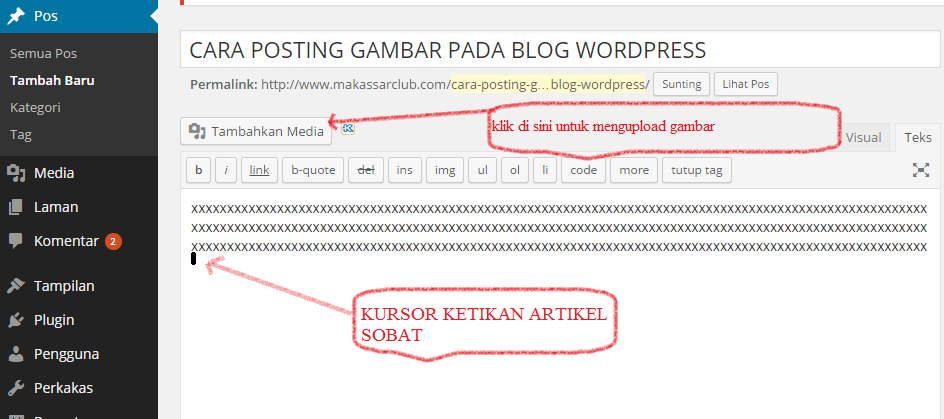 cara wordpress