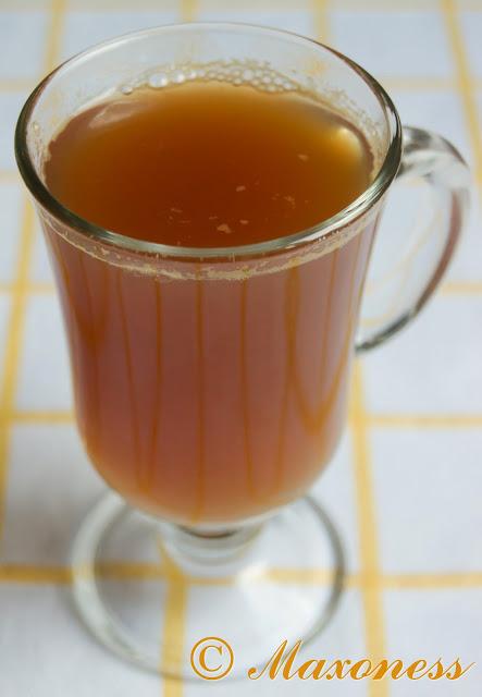 Горячий пряный чай с мёдом