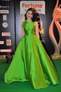 Tamanna in Sleelvess Full Green Gown at IIFA Utsavam 2016