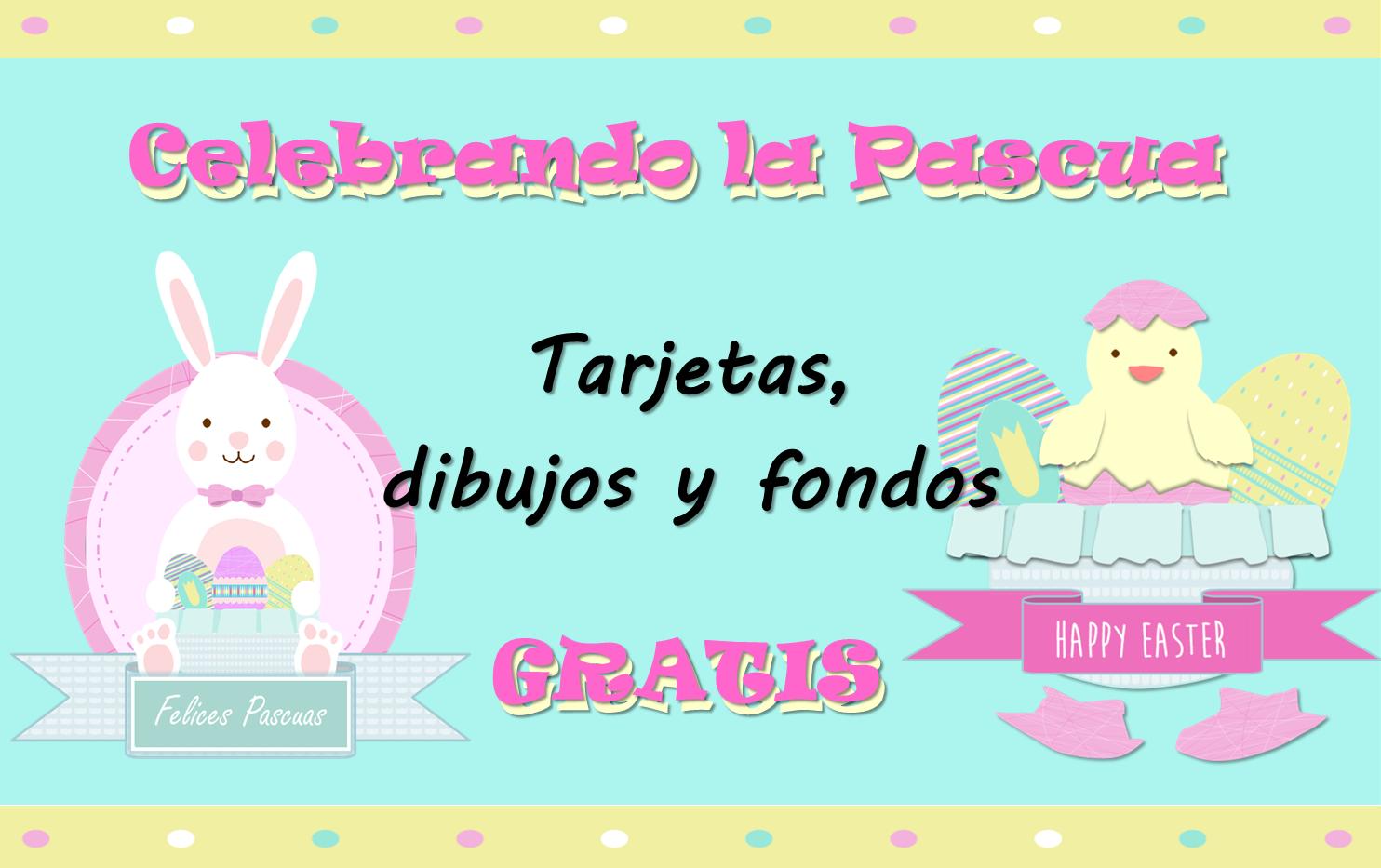 Fondos, papeles, tarjetas de felicitación, dibujos de conejo y huevos de Pascua gratis para scrapbook digital, manualidades, celebraciones