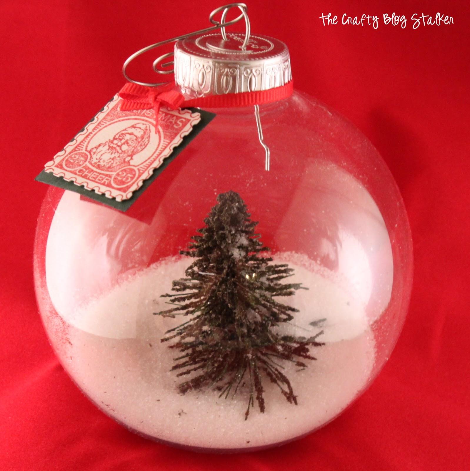 Christmas tree snow globe ornament tutorial video the