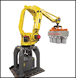 Pro-Pal Pail Palletizer utilizing a robotic arm