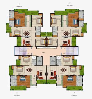 Czar Suites :: Floor Plans:-Cluster Plan Nicolas-4