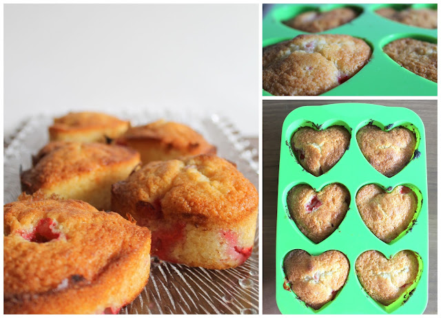 Erdbeer-Vanille-Herzen in baekka Form