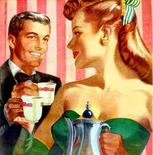 vintage illustrations couple