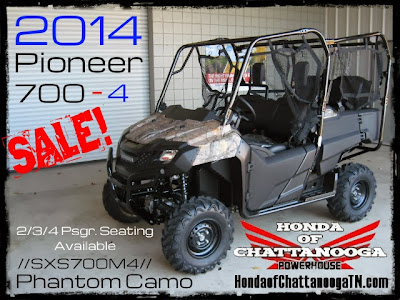 2014 Pioneer 700-4 Camo Sale Price GA AL Honda of Chattanooga UTV SxS Side by Side Dealer SXS700M4