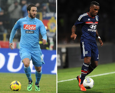 Arsenal set for Gonzalo Higuain and Alexandre Lacazette deals