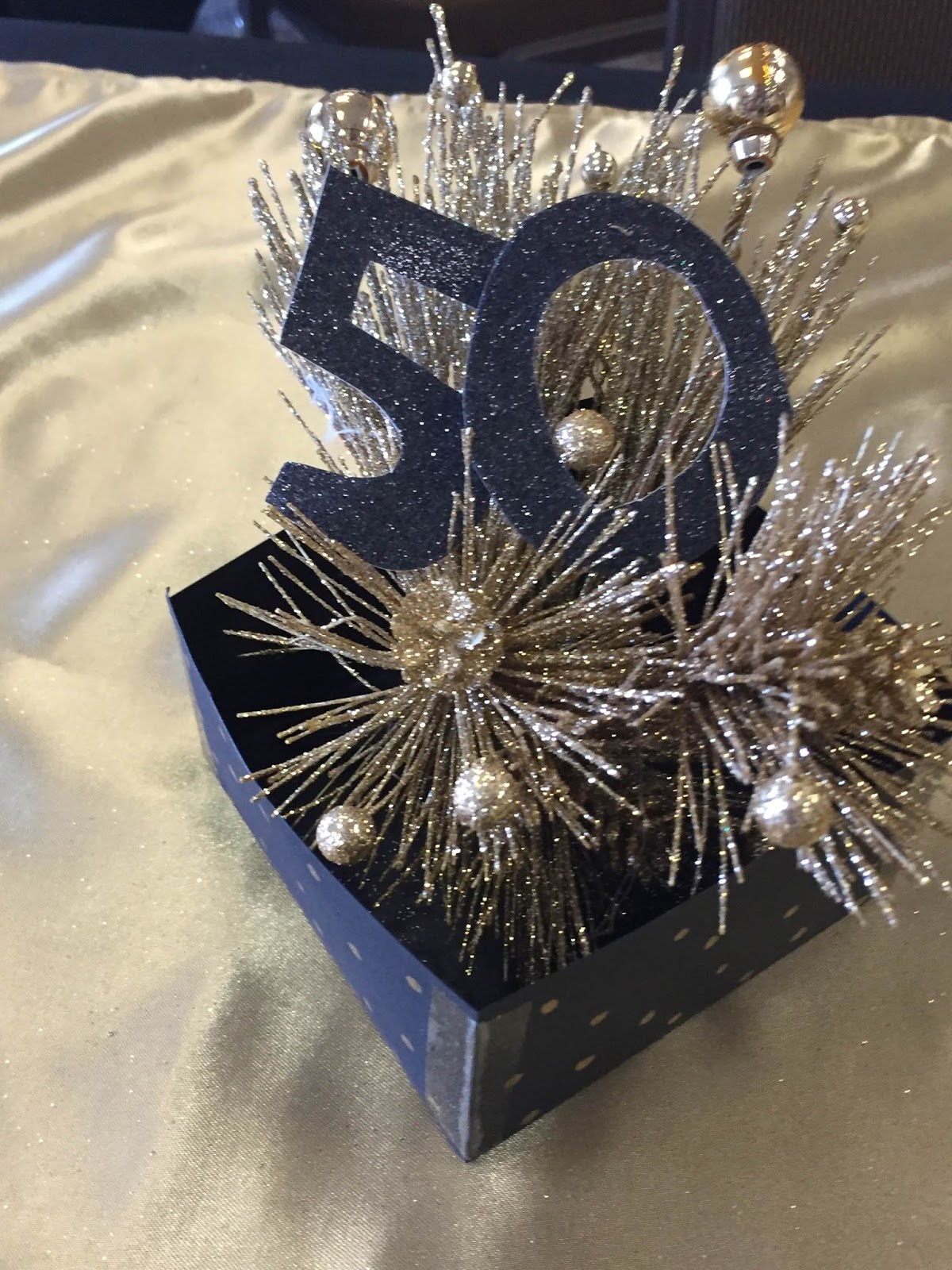 The dabbling crafter black gold 50th birthday surprise for Table decoration 50th birthday