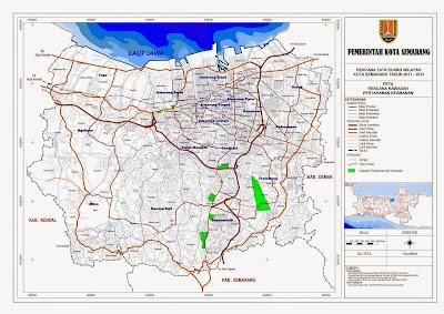 Peta Rencana Kawasan Pertahanan Keamanan Kota Semarang
