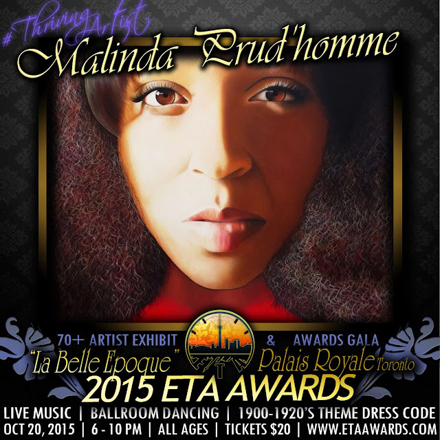 ETA, ETA Awards, Emerging Toronto Artist Award, La Belle Epoque, Malinda Prudhomme, Toronto Art Award, Portrait Artist, Technical Excellence