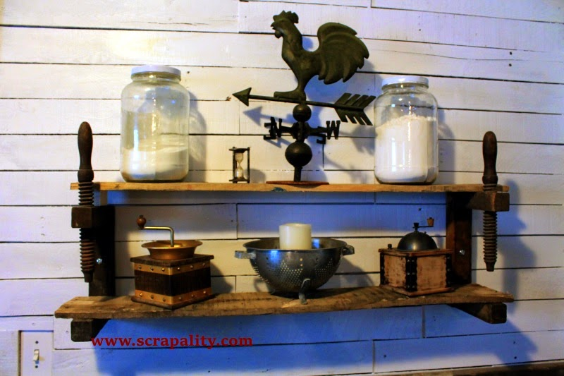 http://www.scrapality.com/2014/11/shelves-made-from-old-wooden-clamps-and-pallet-wood.html