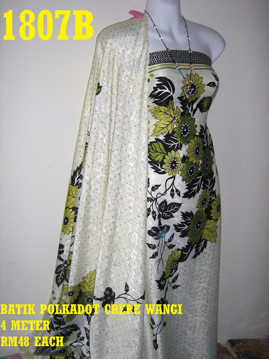 BPCW 1807B: BATIK POLKADOT CREPE WANGI, 4 METER