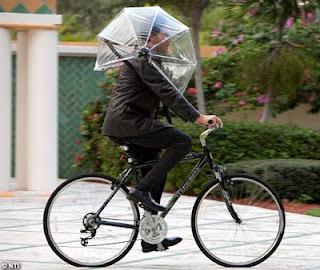 Nubrella - Chapéu de Chuva para bicicleta