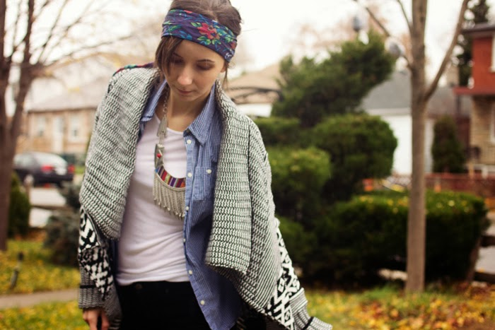 tribal-aztec-cardigan-velvet-pants-flower-headband-shirt