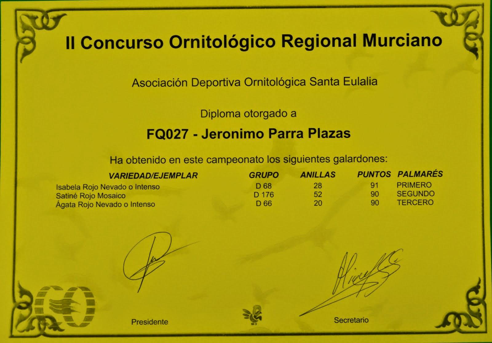 TROFEO DEL REGIONAL MURCIANO 2014