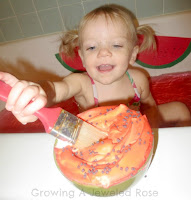 sensory activities- watermelon paint