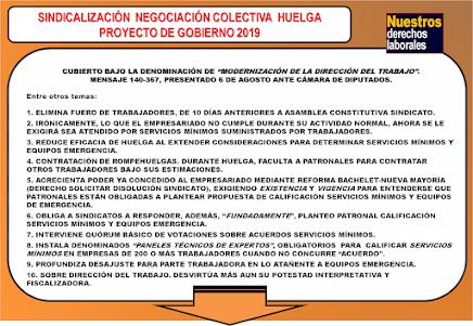 PROYECTO GOBIERNO 2019: SINDICATOS. NEGOCIACIÓN COLECTIVA. HUELGA Y OTROS