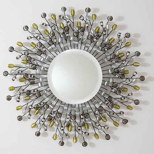 Global Views Sunburst Mirror Nickel: Willow Bee Inspired: Be Inspired No. 9