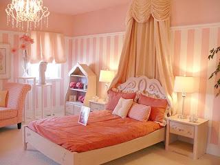 dormitorios juveniles románticos rosa