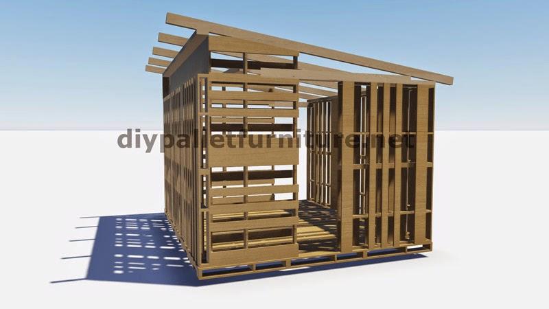 Planos 3d de como hacer un almac n o - Como construir una cabana ...