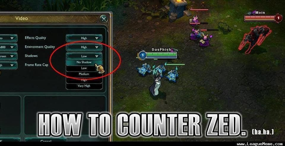 LOL Jokes: How to counter Zed