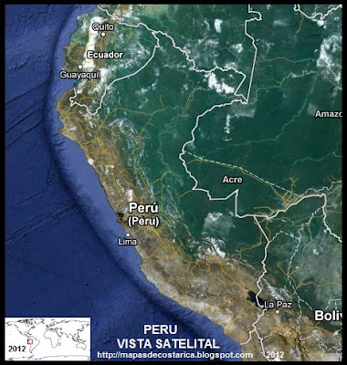 PERU, Vista Satelital de Google Maps