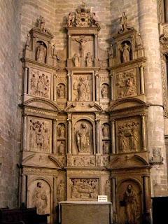Retablo de San Ramón en la Catedral de Barbastro (Somontano, Huesca, Aragón, España)