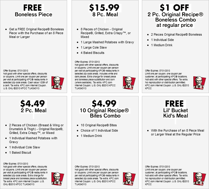 kfc coupons 2015 sydney - photo#1