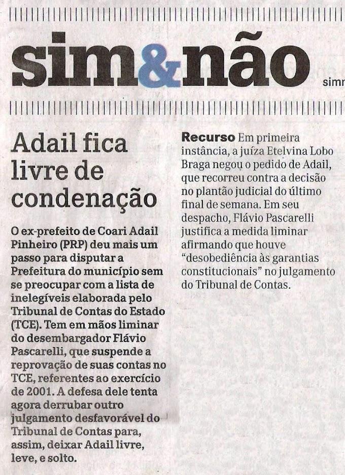 ADAIL PINHEIRO FICA LIVRE NO TCE PARA CONCORRER