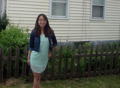 Lulu's One Shoulder Mint Green Dress