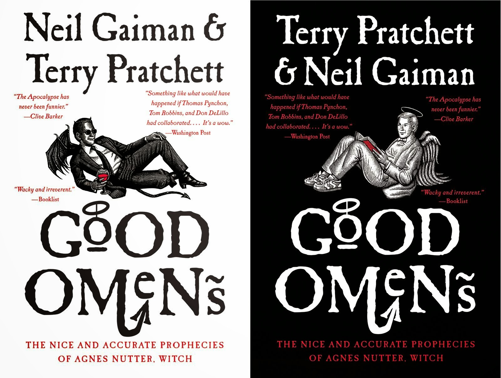 Terry Pretchett e Neil Gaiman Good Omens
