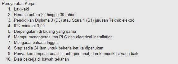 lowongan kerja pt nissan motor indonesia cikampek agustus 2014